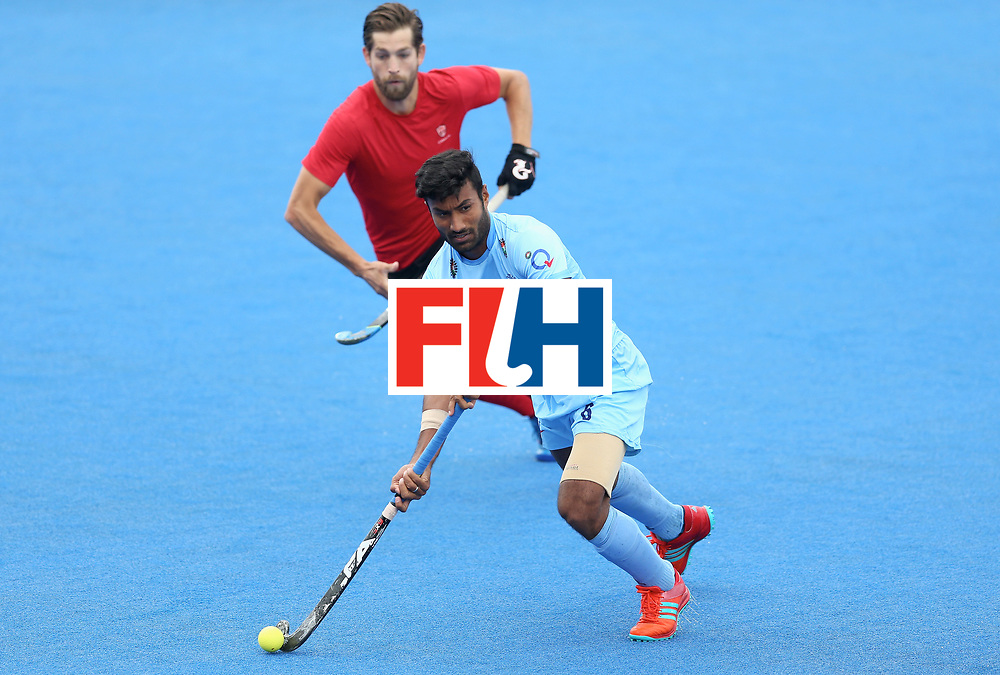 LONDON, ENGLAND - JUNE 25: during the 5th/6th place match between India and Canada on day nine of the Hero Hockey World League Semi-Final at Lee Valley Hockey and Tennis Centre on June 25, 2017 in London, England. (Photo by Steve Bardens/Getty Images)