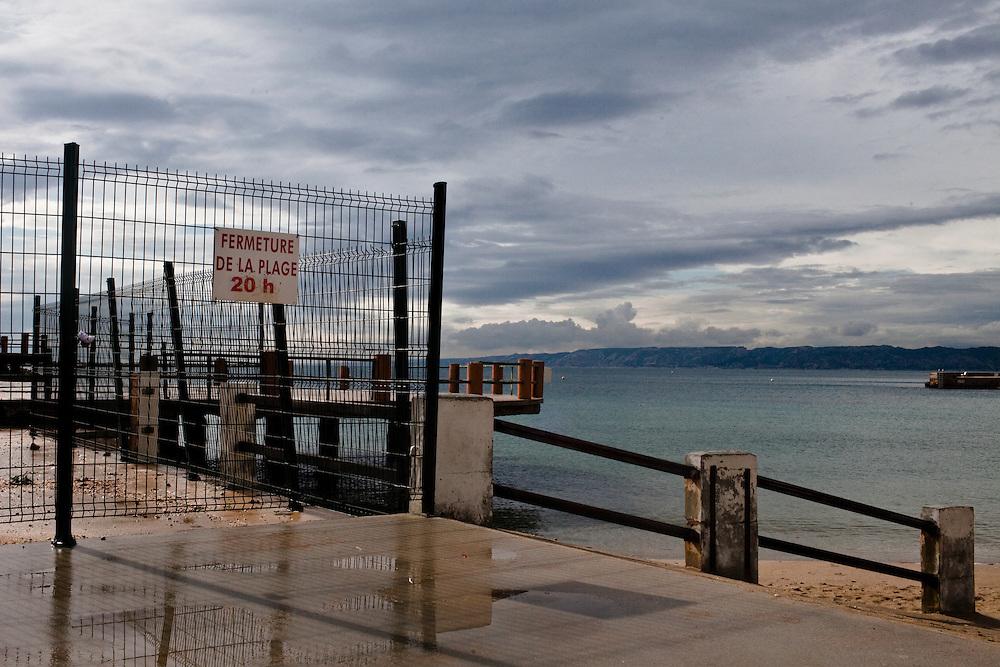 Marseille, Plage des Catalans. Avril 2012
