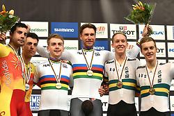 04-03-2018 BAANWIELRENNEN: UCI WK BAANWIELRENNEN: APELDOORN<br /> Roger Kluge (GER) en Theo Reinhardt (GER) goud op de Mens Madison. Spanje zilver en Australië brons<br /> <br /> Foto: Margarita Bouma