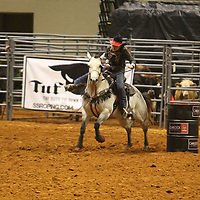 Libby Ezell | BUY AT PHOTOS.DJOURNAL.COM<br /> Cowgirl's Barrel Racing was one of the events for women to compete in at Friday's NE Mississippi Championship Rodeo
