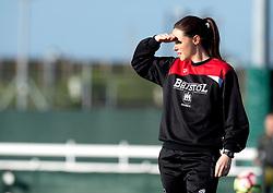 Lauren Smith coach for Bristol City Women looks on during warm-up - Mandatory by-line: Paul Knight/JMP - 09/05/2017 - FOOTBALL - Stoke Gifford Stadium - Bristol, England - Bristol City Women v Manchester City Women - FA Women's Super League Spring Series