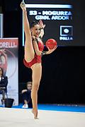 Daniela Mogurean from Ardor team during the Italian Rhythmic Gymnastics Championship in Padova, 25 November 2017.