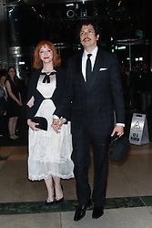 NEW YORK, NY - APRIL 25: Christina Hendricks seen on April 25, 2018 in New York City. CAP/MPI/DC ©DC/MPI/Capital Pictures. 25 Apr 2018 Pictured: Christina Hendricks and Geoffrey Arend. Photo credit: DC/MPI/Capital Pictures / MEGA TheMegaAgency.com +1 888 505 6342