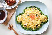 "Mother Of Two Makes Cute Japanese Inspired Lunches For Her Kids<br /> <br /> Li Ming, a mother of two in Singapore, creates adorable character bento (or kyaraben) lunches and dinners for her children.<br /> <br /> Sometimes Ming comes up with her own ideas, but she also takes requests from her two sons – Ivan Tey, 10, and Lucas Tey, 7. Together, they've all come up with brilliant bento lunch ideas – from Hello Kitty and Spiderman to Spongebob and Super Mario.<br /> <br /> Li Ming publishes many of her lunches on her blog and on Instagram,<br /> @bentomonsters, sometimes even posting how-to tutorials. She does, however, keep some of them secret in anticipation for her upcoming book. Be sure to follow her blog for more cute and delicious lunch ideas<br /> <br /> ""I started out packing kyrabens for them to bring to school in 2011 but stopped last year after my older boy changed to the morning session,"" <br /> <br /> ""My boys have been bringing undecorated bentos to school since last year. These food that I share are for their lunch or dinner at home.""<br /> <br /> ""These lunches usually take around half an hour to make, excluding the cooking of food. Most take shorter than half an hour, some take longer.""<br /> <br /> ""The food must still taste good,  I try to keep that in mind when making my food art. This is because my boys won't want to eat food that don't taste good, regardless of how amazing it looks.""<br /> ""The book is still in progress, estimated to be out in the US fall of next year.<br /> ©Li Ming/Exclusivepix"