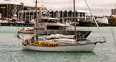 "Auckland-""Oil Free Seas""  flotilla protest leaves harbour"