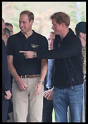 Image licensed to i-Images Picture Agency. 11/09/2014. London, United Kingdom. The Duke of Cambridge and Prince Harry arriving to watch a Drumhead Service  at the athletics competition on day one of the Invictus Games in London. Picture by Stephen Lock / i-Images