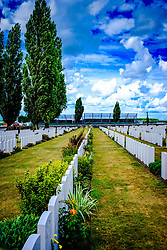 Tyne Cot Commonwealth War Graves Cemetery and Memorial to the Missing is a Commonwealth War Graves Commission (CWGC) burial ground for the dead of the First World War in the Ypres Salient on the Western Front. It is the largest cemetery for Commonwealth forces in the world, for any war. The cemetery and its surrounding memorial are located outside of Passchendale, near Zonnebeke in Belgium.<br /> <br /> (c) Andrew Wilson | Edinburgh Elite media