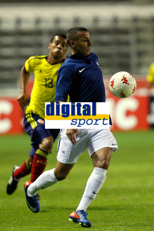 FOOTBALL - UNDER 21 - INTERNATIONAL TOULON FESTIVAL 2011 - FINAL - COLOMBIA v FRANCE - 10/06/2011 - PHOTO PHILIPPE LAURENSON / DPPI - TAFERE YANNIS (FRA) / CABEZAS NUNEZ JUAN (COL)
