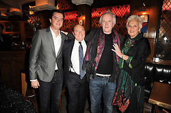 Left to right, JAMIE CARING, ARNOLD CROOK, SEAN MATHIAS and JEANNE MANDRY at 'Heavenly Ivy' a play to commemorate 20 years of The Ivy Restaurant, held at The Ivy, West Street, London on 8th November 2010.