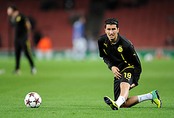 Borrusia Dortmund's Nuri Sahin - Photo mandatory by-line: Alex James/JMP - Tel: Mobile: 07966 386802 22/10/2013 - SPORT - FOOTBALL - Emirates Stadium - London - Arsenal v Borussia Dortmund - CHAMPIONS LEAGUE - GROUP F