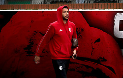 """Watford's Etienne Capoue arrives at the stadium prior to the Premier League match at Selhurst Park, London. PRESS ASSOCIATION Photo. Picture date: Saturday January 12, 2019. See PA story SOCCER Palace. Photo credit should read: John Walton/PA Wire. RESTRICTIONS: EDITORIAL USE ONLY No use with unauthorised audio, video, data, fixture lists, club/league logos or """"live"""" services. Online in-match use limited to 120 images, no video emulation. No use in betting, games or single club/league/player publications."""