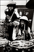 Black Uhuru with Sly and Robbie  at Island Records UK office Fallout Shelter Studio - 1981