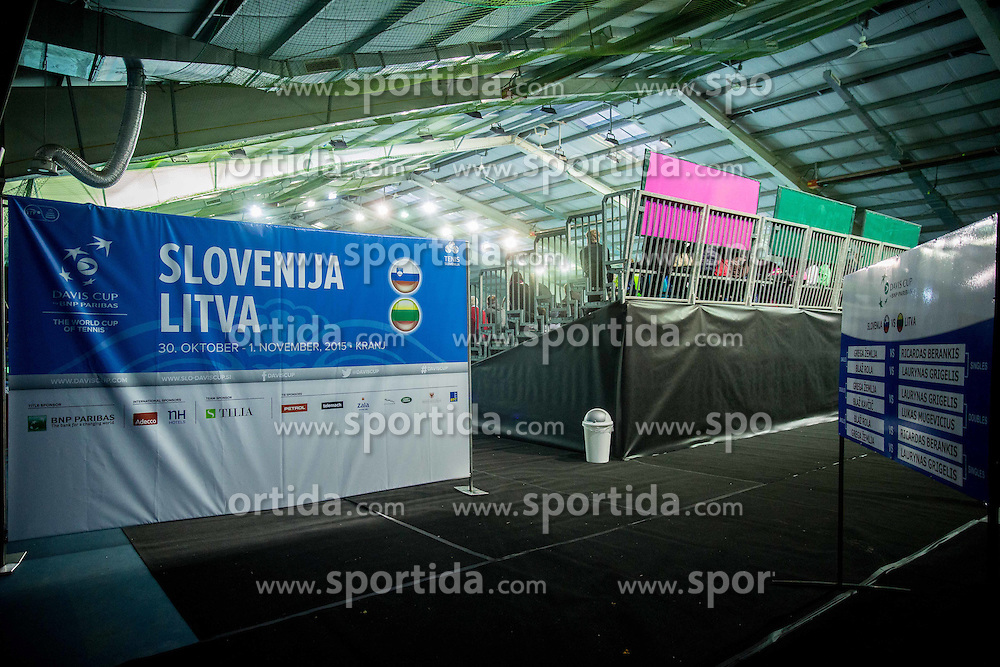 Arena during Davis Cup Slovenia vs Lithuania competition, on October 30, 2015 in Kranj, Slovenia. Photo by Vid Ponikvar / Sportida
