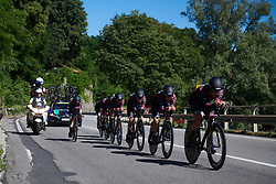 CANYON//SRAM Racing at Giro Rosa 2018 - Stage 1, a 15.5 km team time trial in Verbania, Italy on July 6, 2018. Photo by Sean Robinson/velofocus.com