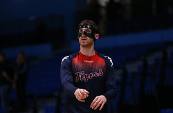 Josh Rogers of Bristol Flyers during the warm up - Photo mandatory by-line: Arron Gent/JMP - 02/11/2019 - BASKETBALL - Surrey Sports Park - Guildford, England - Surrey Scorchers v Bristol Flyers - British Basketball League Cup
