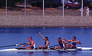 2000 Sydney Olympic Games - Sydney. NSW. Australia.Olympic Regatta - Penrith Lakes..23.09.2000. Finals day2002 Sydney Olympic Games - Sydney. NSW. Australia.Olympic Regatta - Penrith Lakes..23.09.2000. Finals day.GBR M4- Stroke Matt Pinsent, 2 Tim Foster, 3 Steve Redgrave and James Cracknell. final strokes of the Olympic final, 2000 Olympic Regatta Sydney International Regatta Centre (SIRC) 2000 Olympic Rowing Regatta