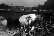 France. Paris. Seine river bridges. Notre dame bridge on the seine river at sunset / pont Notre Dame