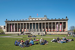 View of Altes Museum and Lustgarten on Museumsinsel ( Museum Island) in Berlin Germany