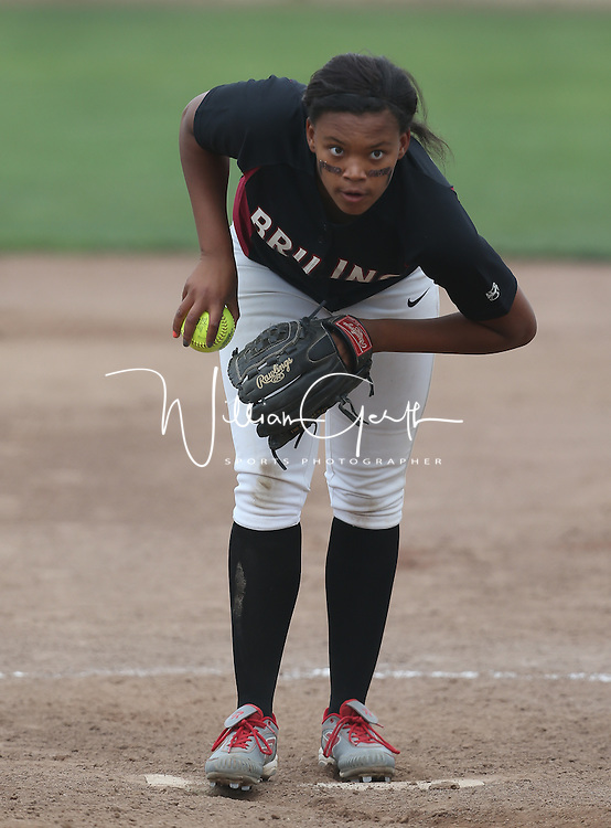 Girls Softball in a CIF SJC Girls Softball Championships at Arnaiz Stadium, Stockton CA on 5/21/16. (Photograph by Bill Gerth (williamgerth.com))
