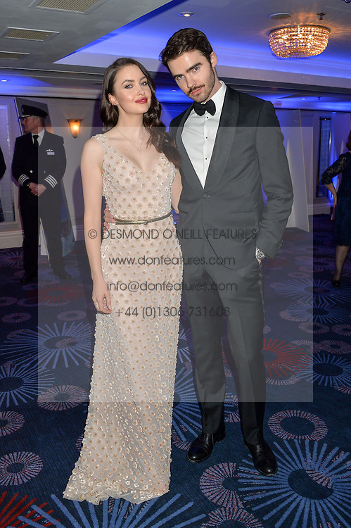 EMMA MILLER and her brother MIKE MILLER at the Chain of Hope Ball held in aid of the charity Chain of Hope, founded by Professor Sir Magdi Yacoub which organises volunteer teams worldwide to operate on children suffering from life-threatening heart diseases, held at the Grosvenor House Hotel, Park Lane, London on 20th November 2015.
