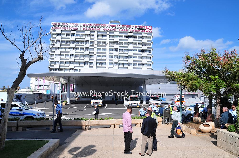 Israel, Haifa the entrance to Rambam Health Care Campus in Haifa, November 7, 2009