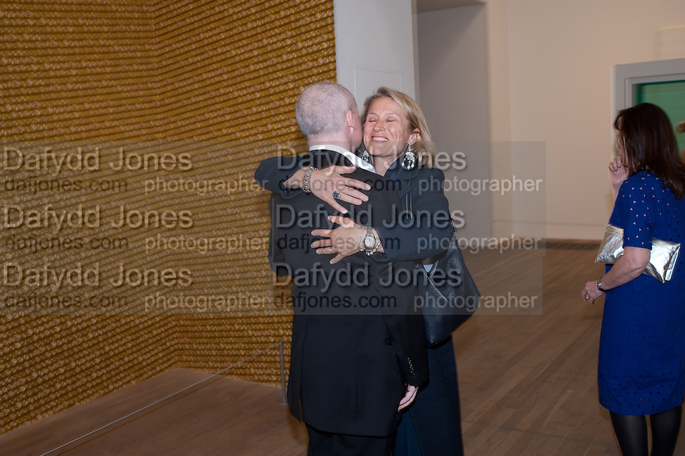 Damien Hirst, Tate Modern: dinner. 2 April 2012.