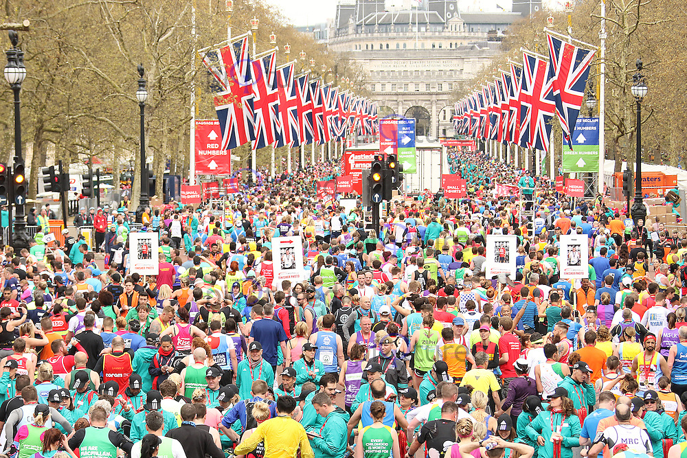 The Mall, Virgin Money London Marathon, London UK, 24 April 2016, Photo by Brett D. Cove