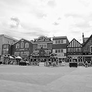 Salisbury Market Square -Salisbury, UK - Black & White