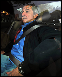 Former Energy Secretary Chris Huhne released after serving eight weeks of his eight month sentence for perverting the course of justice at Gloucestershire's Leyhill open prison, the 58-year-old will have to wear a tag while he serves the remainder of his eight-month sentence under licence. Monday 13 May, 2013, Photo by: Andrew Parsons /  i-Images