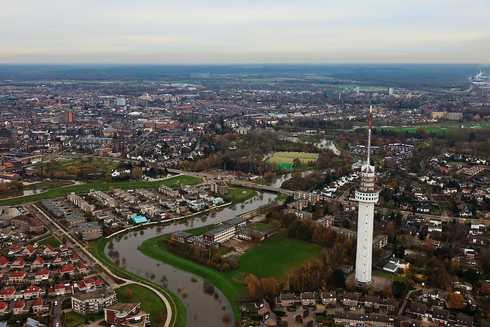 Nederland, Limburg, Roermond, 15-11-2010;.Zendmast van Roermond. Radio tower of the city of Roermond..luchtfoto (toeslag), aerial photo (additional fee required).foto/photo Siebe Swart