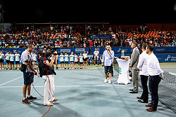 Gasper Bolhar at trophy ceremony after the Final match at Day 10 of ATP Challenger Zavarovalnica Sava Slovenia Open 2019, on August 18, 2019 in Sports centre, Portoroz/Portorose, Slovenia. Photo by Vid Ponikvar / Sportida