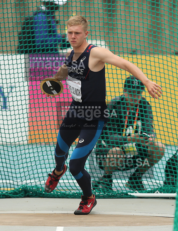 NAIROBI, KENYA - 13 July 2017, Steven Fauvel Clinch of France in the discus throw in the mens decathlon during the morning session on Day 2 of the IAAF World U18 Championship held at the Kasarani Stadium in Nairobi, Kenya.<br /> Photo by Roger Sedres/ImageSA
