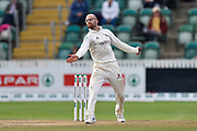 Jack Leach of Somerset bowling during the Specsavers County Champ Div 1 match between Somerset County Cricket Club and Essex County Cricket Club at the Cooper Associates County Ground, Taunton, United Kingdom on 26 September 2019.