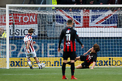 (L-R) Fran Sol of Willem II, Wout Faes of Excelsior during the Dutch Eredivisie match between sbv Excelsior Rotterdam and Willem II Tilburg at Van Donge & De Roo stadium on April 06, 2018 in Rotterdam, The Netherlands
