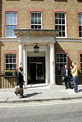UK ENGLAND LONDON 12MAY05 - Entrance to 7 Clifford Street, Mayfair, central London, the official address of hedge fund company TCI...jre/Photo by Jiri Rezac ..© Jiri Rezac 2005..Contact: +44 (0) 7050 110 417.Mobile:  +44 (0) 7801 337 683.Office:  +44 (0) 20 8968 9635..Email:   jiri@jirirezac.com.Web:    www.jirirezac.com..© All images Jiri Rezac 2005 - All rights reserved.