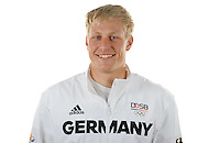 Max Rendschmidt poses at a photocall during the preparations for the Olympic Games in Rio at the Emmich Cambrai Barracks in Hanover, Germany. July 04, 2016. Photo credit: Frank May/ picture alliance. | usage worldwide