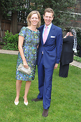 JAMES & JULIA OGILVY at a reception hosted by the Friends of the Castle of Mey held at the Goring Hotel, Beeston Place, London on 22nd May 2012.