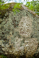 Carved boulders at El Nancito Archaeological Site; Panama