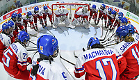 DMITROV, RUSSIA - JANUARY 9: Czech Republic get set to take on Finland in preliminary round action at the 2018 IIHF Ice Hockey U18 Women's World Championship. (Photo by Steve Kingsman/HHOF-IIHF Images)