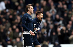 Harry Kane of Tottenham Hotspur and Heung-Min Son of Tottenham Hotspur celebrate the victory over Swansea City - Mandatory byline: Robbie Stephenson/JMP - 28/02/2016 - FOOTBALL - White Hart Lane - Tottenham, England - Tottenham Hotspur v Swansea City - Barclays Premier League