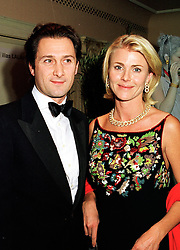 MR RAFFAELE MINCIONE and MRS NINA JUNOT wife of the former husband of Princess Caroline of Monaco, at a ball in London on 8th November 1998.<br /> MLP 66