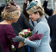 Utrecht, 30-11-2016 <br /> <br /> State Visit of King Filip and Queen Mathilde to The Netherlands.<br /> Queen Mathilde emotional after saying goodbye to  Queen Maxima<br /> <br /> DEPARTURE TO UTRECHT WITH THE ROYAL TRAIN<br /> <br /> <br /> COPYRIGHT ROYALPORTRAITS EUROPE/ BERNARD RUEBSAMEN