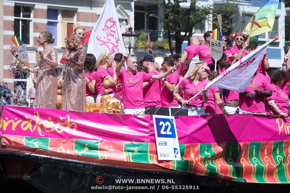 NLD/Amsterdam//20170805 - Gay Pride 2017, Boot Pink Marakech