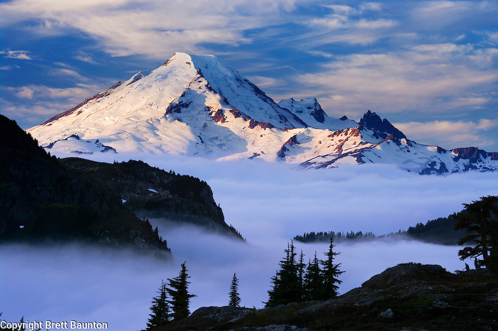 Mt. Baker Wilderness Area, above a sea of clouds