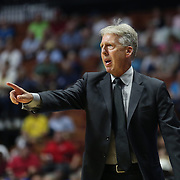 UNCASVILLE, CONNECTICUT- MAY 26:  Head Coach Brian Agler of the Los Angeles Sparks on the sideline during the Los Angeles Sparks Vs Connecticut Sun, WNBA regular season game at Mohegan Sun Arena on May 26, 2016 in Uncasville, Connecticut. (Photo by Tim Clayton/Corbis via Getty Images)