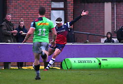 Tiff Eden of Bristol Bears United converts - Mandatory by-line: Paul Knight/JMP - 02/12/2018 - RUGBY - Clifton RFC - Bristol, England - Bristol Bears United v Harlequins - Premiership Rugby Shield