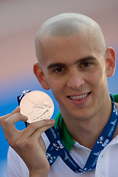 Second placed Laszlo Cseh of Hungary  at the victory ceremony after the Men's 200m Individual Medley Final during the 13th FINA World Championships Roma 2009, on July 30, 2009, at the Stadio del Nuoto,  in Foro Italico, Rome, Italy. (Photo by Vid Ponikvar / Sportida)