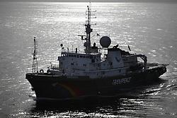 ATLANTIC OCEAN 30OCT14 - Greenpeace ship Esperanza in the Atlantic Ocean off the coast of Guinea.<br /> <br /> jre/Photo by Jiri Rezac / Greenpeace<br /> <br /> <br /> © Jiri Rezac 2014
