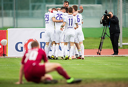 Players of Maribor celebrate after scoring first goal during Football match between NK Triglav and NK Maribor in 25th Round of Prva liga Telekom Slovenije 2018/19, on April 6, 2019, in Sports centre Kranj, Slovenia. Photo by Vid Ponikvar / Sportida