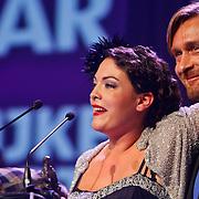 NLD/Rotterdam/20101003 - Uitreiking Edison Popprijzen 2010, winnaar beste vrouwelijke artiest, huilende Caro Emerald